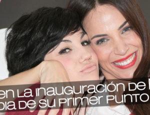 Angy en la inauguración de Nerea Garmendia de su primer punto de venta By Nerea en Madrid
