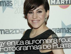 Angy en la alfombra roja de los Fotogramas de Plata 2014