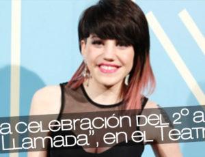"""Angy en la celebración del 2º aniversario de """"La Llamada"""", en el Teatro Lara"""