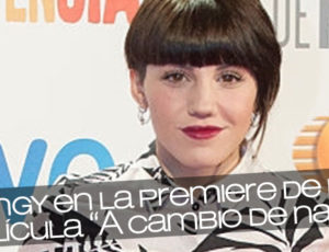 """Angy en la premiere de la película """"A cambio de nada"""""""