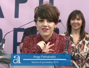 Angy en la Inauguración de EXPOCREATIVA 2015