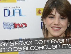 Angy a favor de prevenir el consumo de alcohol en menores