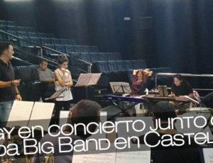 Angy en concierto junto con Onda Big Band en Castellón