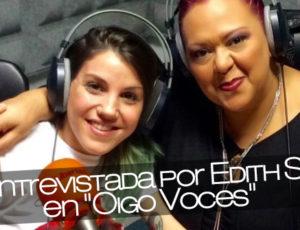 """Angy entrevistada por Edith Salazar en """"Oigo Voces"""""""